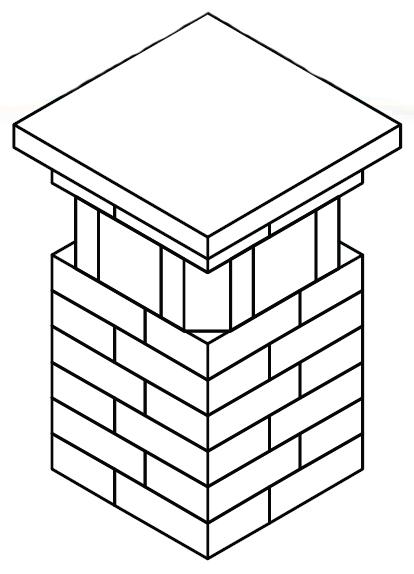 20″ Pillar with Glass