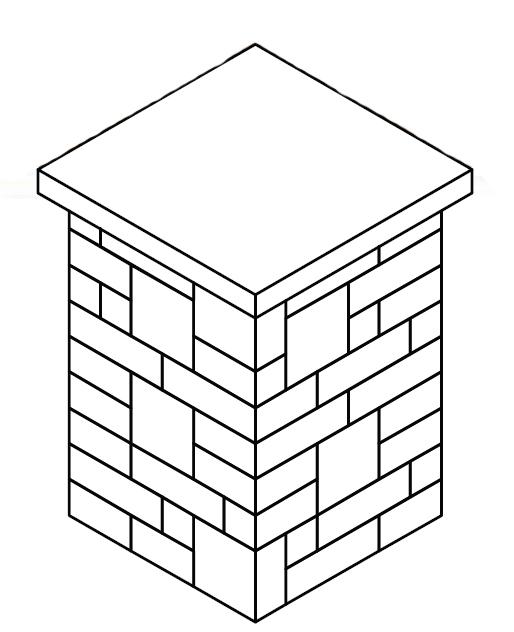 24″ Pillar with Glass