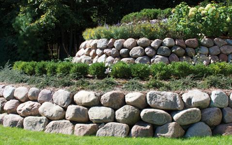 cobbles boulders area landscape supply